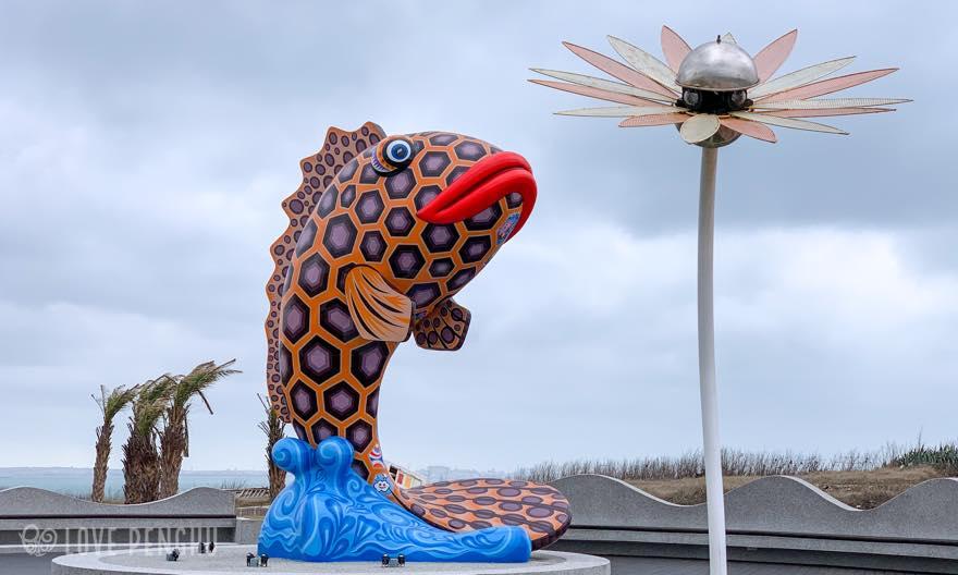 2020年に完成した新しいランドマークは、澎湖県の魚「ハタ」がモチーフだ。