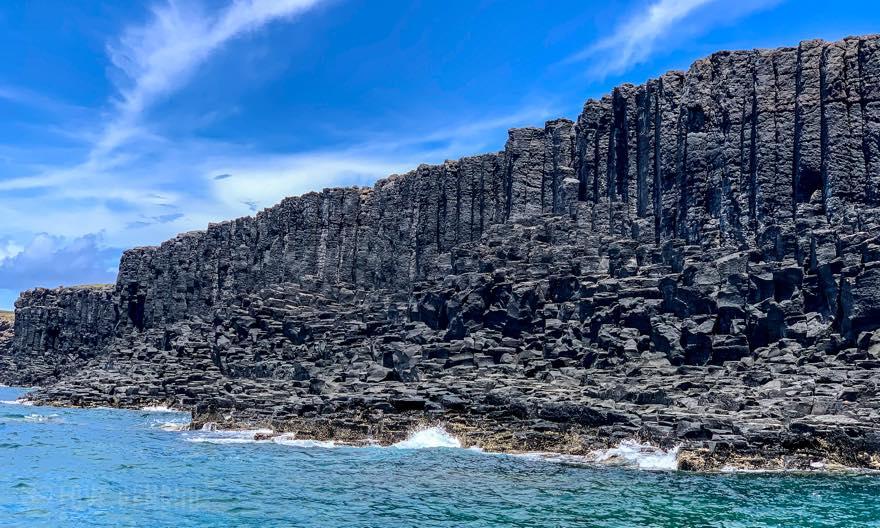 澎湖(ポンフー)南方四島の「西吉(シージー)」にある柱状玄武岩