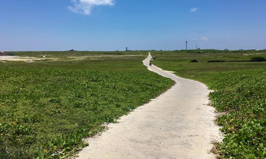 澎湖(ポンフー)の離島「吉貝(ジーベイ)」の道