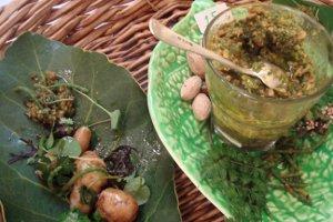 karaka kernal pesto salad