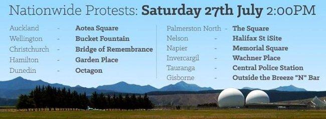 Stop the GCSB bill protests