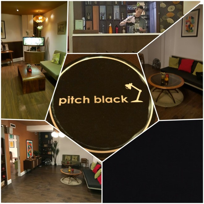Pitch Black collage of place