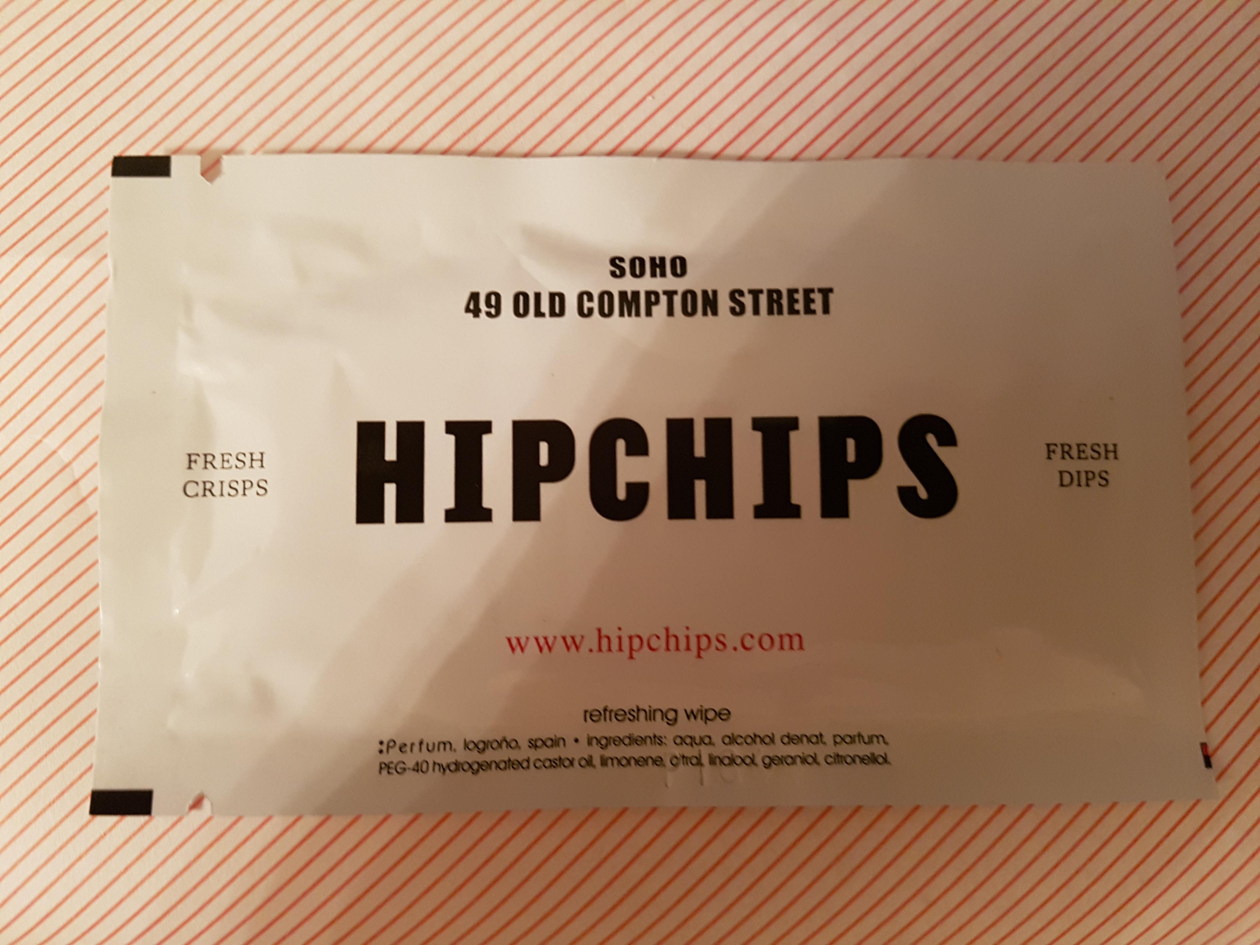 HipChips crisps wipe