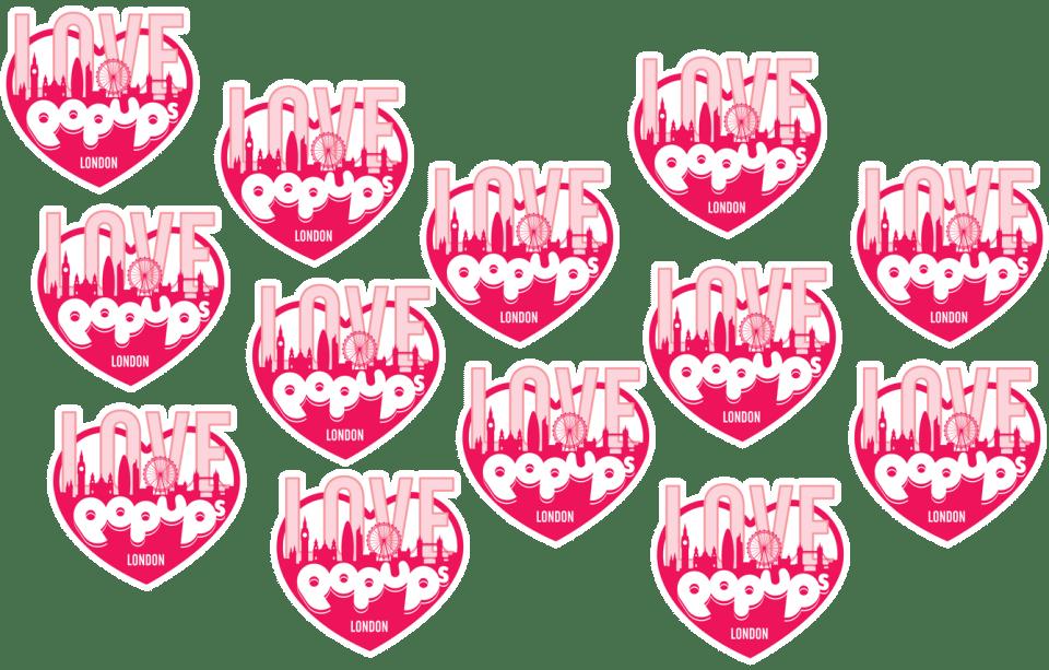 Love Pop Ups London logos banner