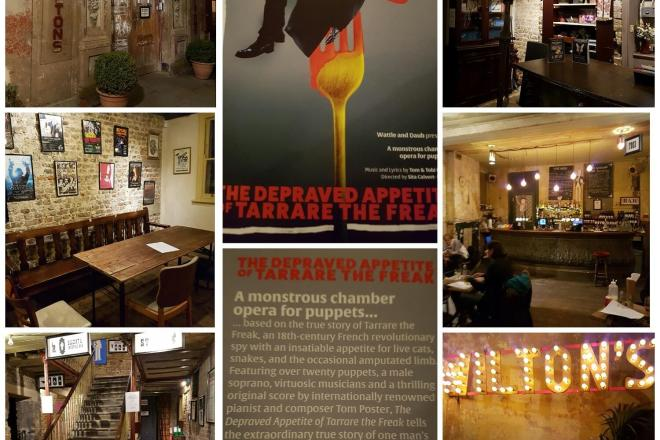 Wiltons Music Theatre The Depraved Appetite of Tarrare the Freak collage