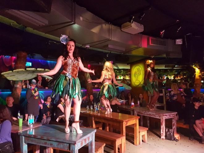 Tropicana Beach Club dancing girls on tables