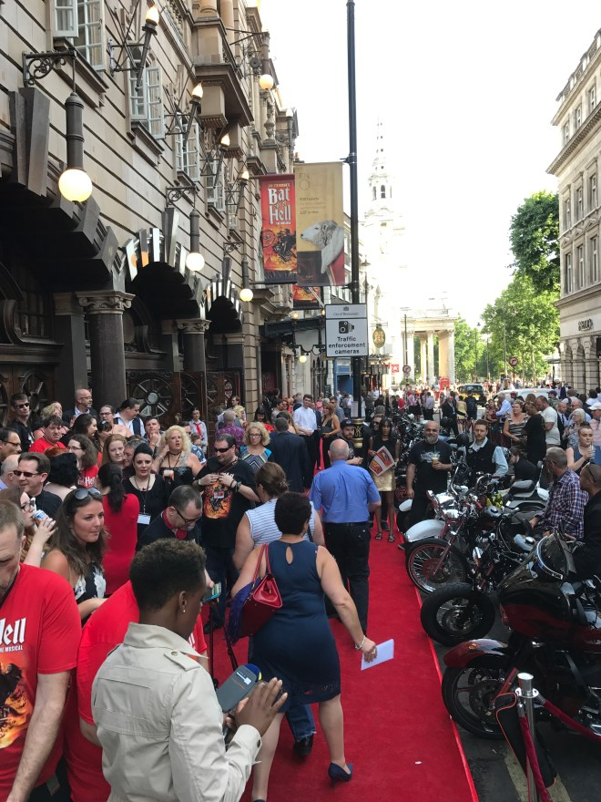 Bat Out of Hell red carpet