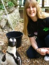 London Zoo - keeper for the day me and a penguin