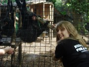 London Zoo keeper for the day me and monkey