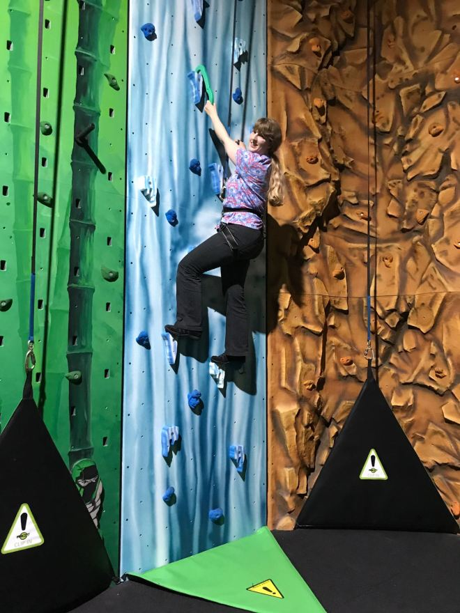 Flip Out E6 The Artic rock climbing wall