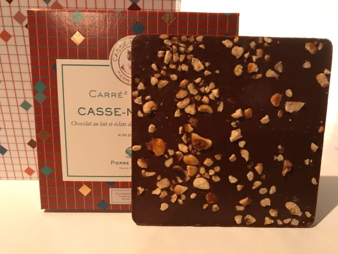 Pierre Marcolini chocolate pop up - three slabs of different chocolates