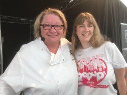 Foodies Festival me and Rosemary Shrager