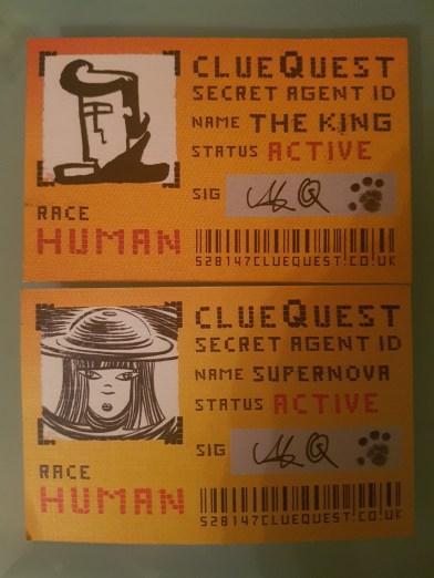 clueQuest Secret Agent card