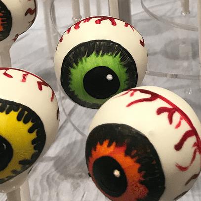 My Halloween candy pop eyes