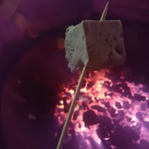 Magical Lantern cooking marshmallows