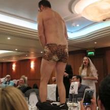 The Wedding Reception bestman pants off