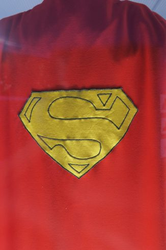 DC Exhibition Superman logo|| on cape