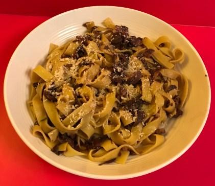 Radicchio completed dish