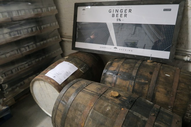 Umbrella Brewing Ginger Beer Barrels