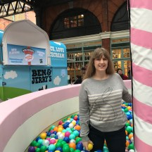 Ben & Jerry's 40th Birthday me in ball pit