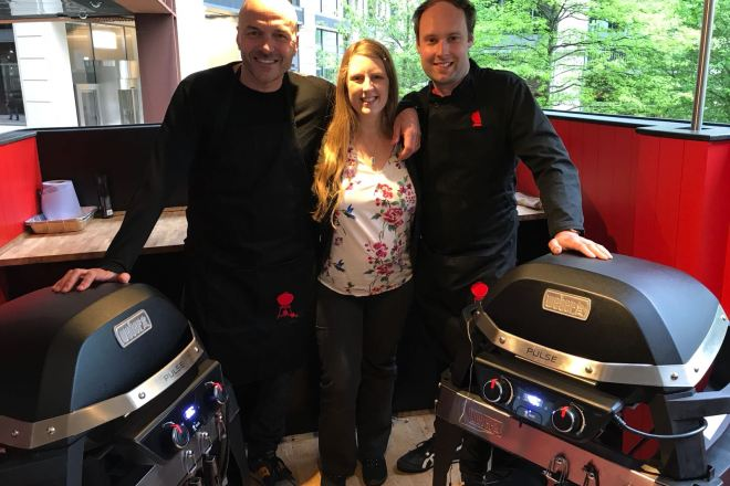 Weber Simon Rimmer, me and Dan