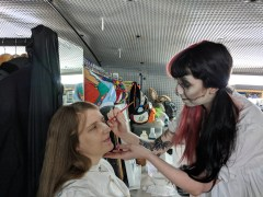 London Tombs - Joanne being done up by Chloe