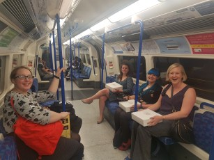 The Big London Bake travelling home with tarts
