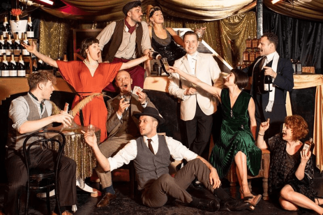The cast of The Great Gatsby, credit Helen Maybanks