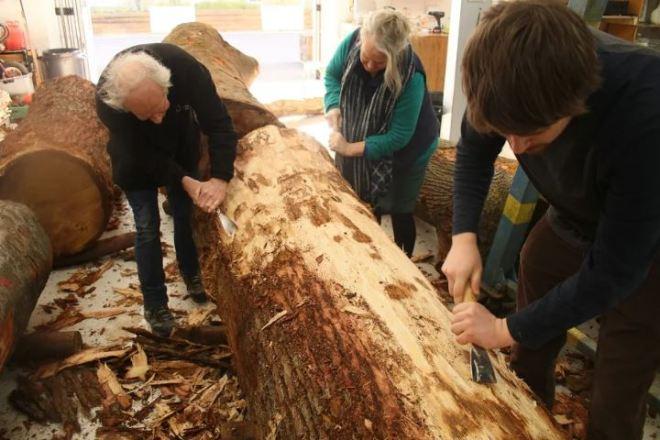 Guerrilla Arts Wood carving