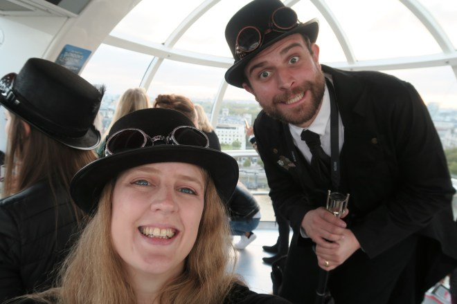 Schweppes London Eye selfie