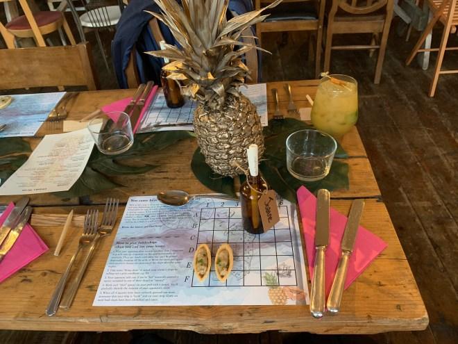 The Literary Hour Treasure Island table setup