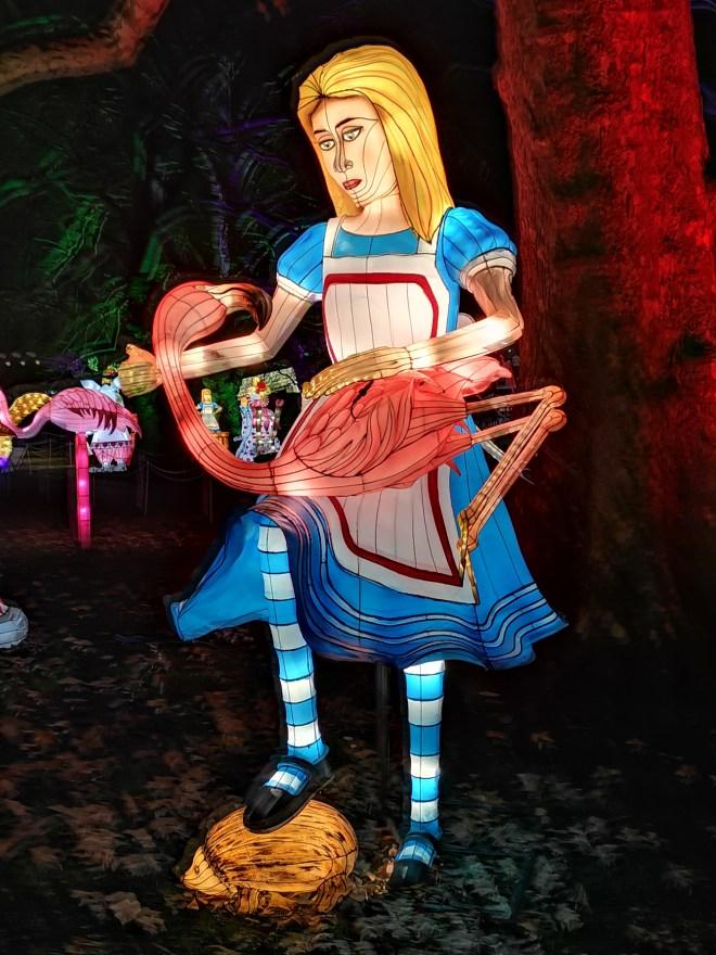 Alice in Winterland - Alice and flamingo