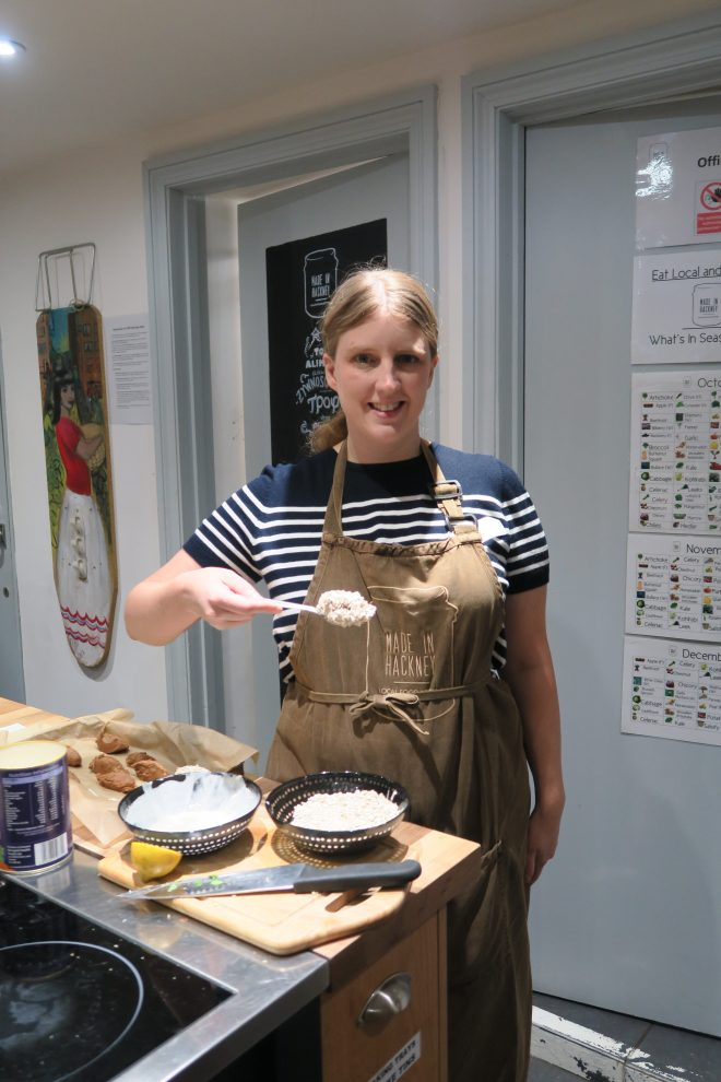 Me cooking - Made in Hackney : Life Beyond Cheese