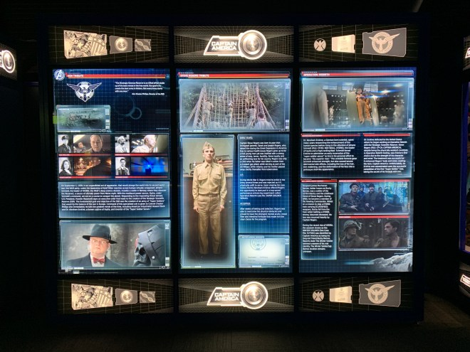 Avengers Station Captain America text