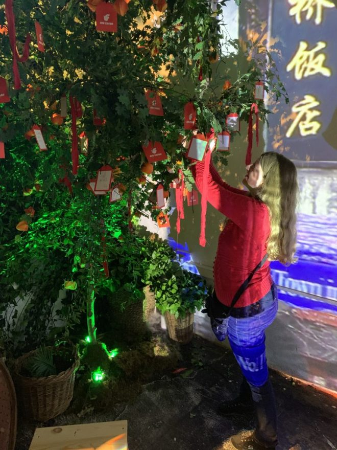 Air China Land of Luck - wishing tree