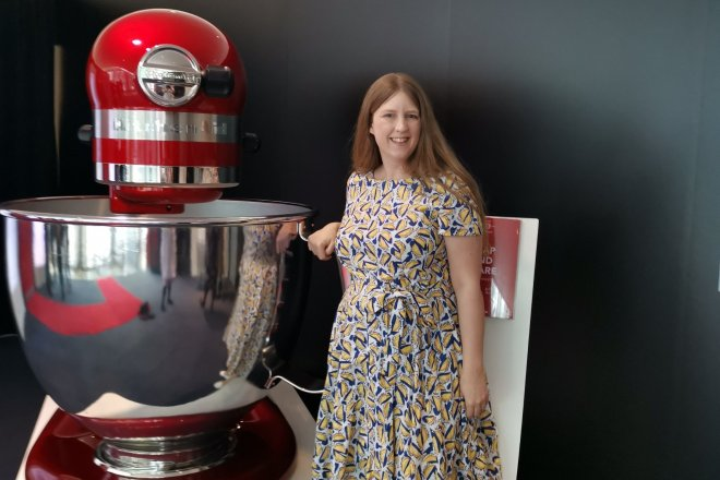 KitchenAid birthday me and huge mixer