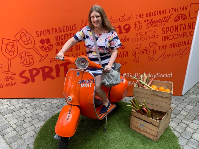 Aperol Spritz Vespa and me