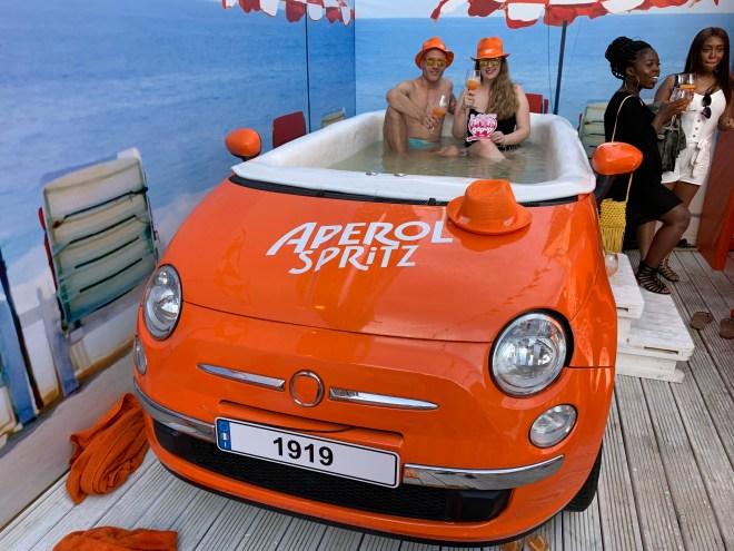 Aperol Spritz hot tub
