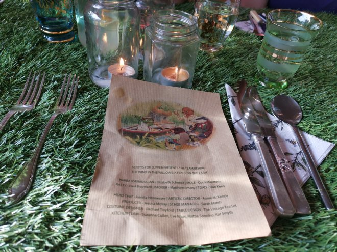 Scripts for Supper Wind in the Willows menu