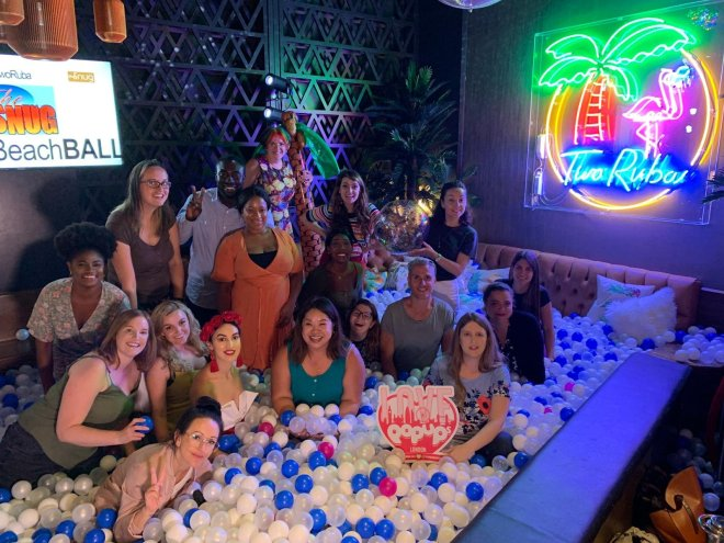 TwoRuba ball pit and us