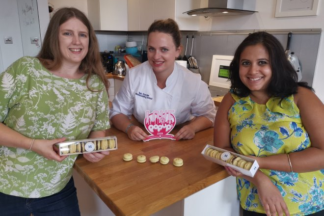 Mauderne Baking Class me, Maud and Geeta