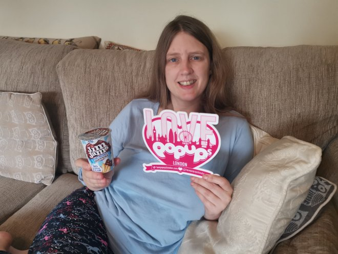 Me in my jim jams with my JimJams Milk Chocolate Dippers