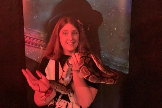 The London Bridge Experience The London Tombs me with a snake