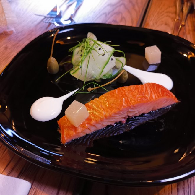 The Kitchen Hilton Tower Bridge salmon Christmas menu