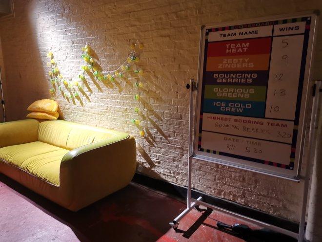 Gingerline's TV Dinners Green Room by Love Pop Ups London