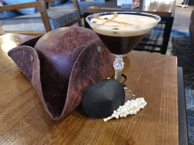 DoubleTree Hilton bar area Espresso Martini