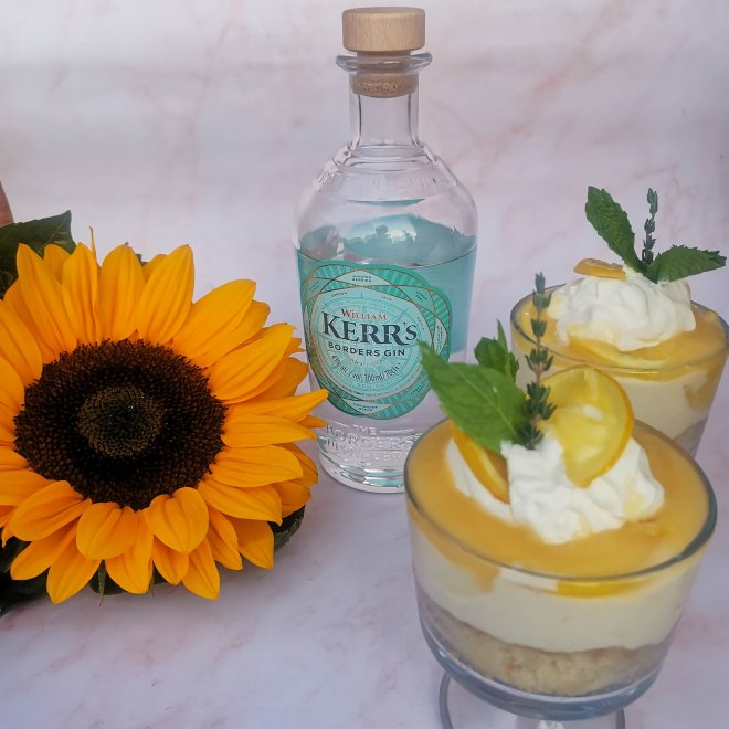 Kerrs Gin Steam their botanticals trifle