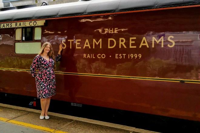 Steam Dreams me outside the Mayflower train