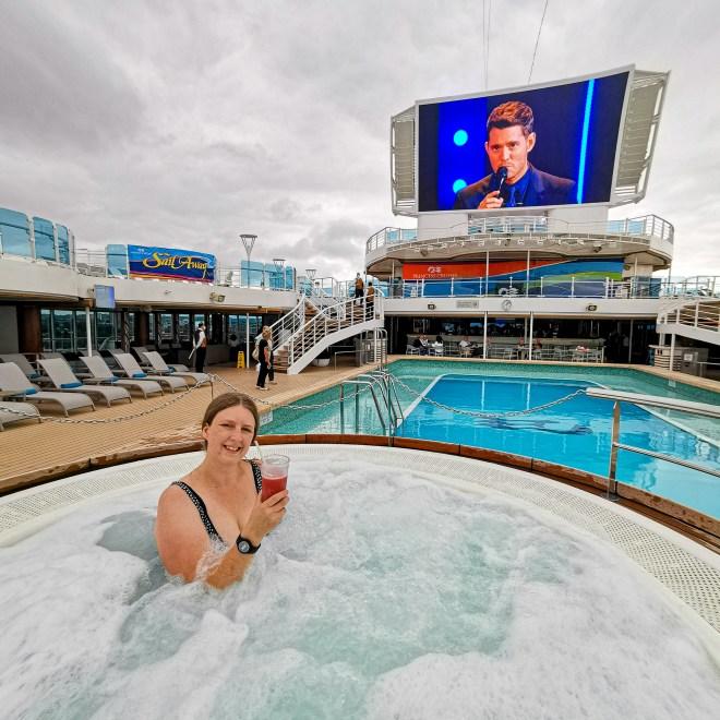 Sky Princess hot tub pool area deck 16