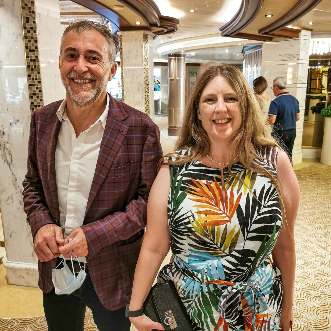 Sky Princess me and Michel Roux Culinary Chef Themed Cruise